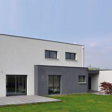 Maison moderne, style cubique