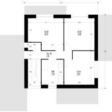 Plan etage maison moderne cubique détails design