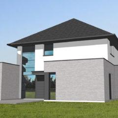 Maison moderne cubique détails design
