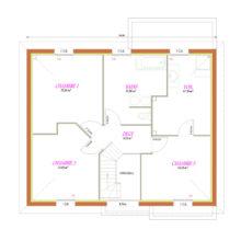 Plan étage réalisation Lesquin